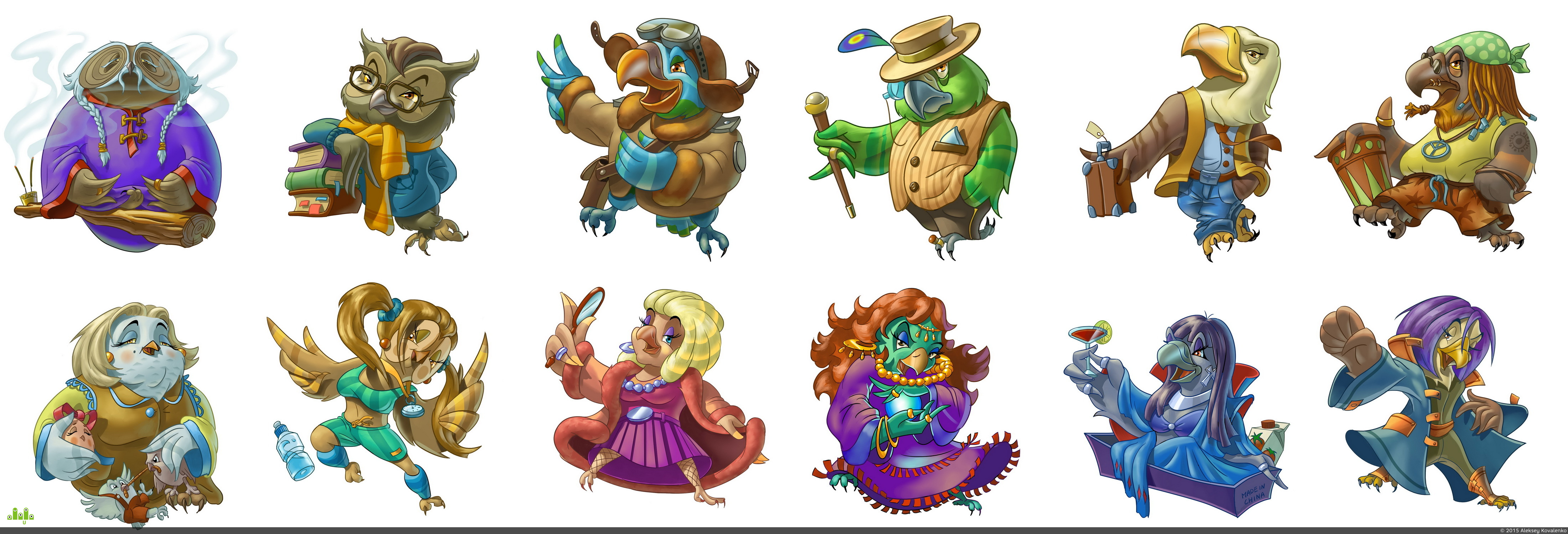 preview Пернатые персонажи для игры