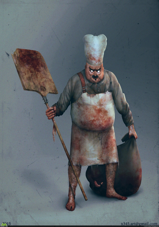 preview Злой пекарь с добычей.