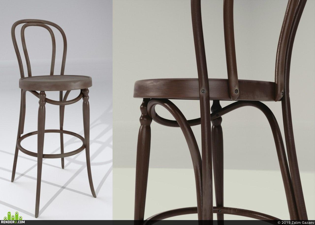 preview Барный стул в венском стиле