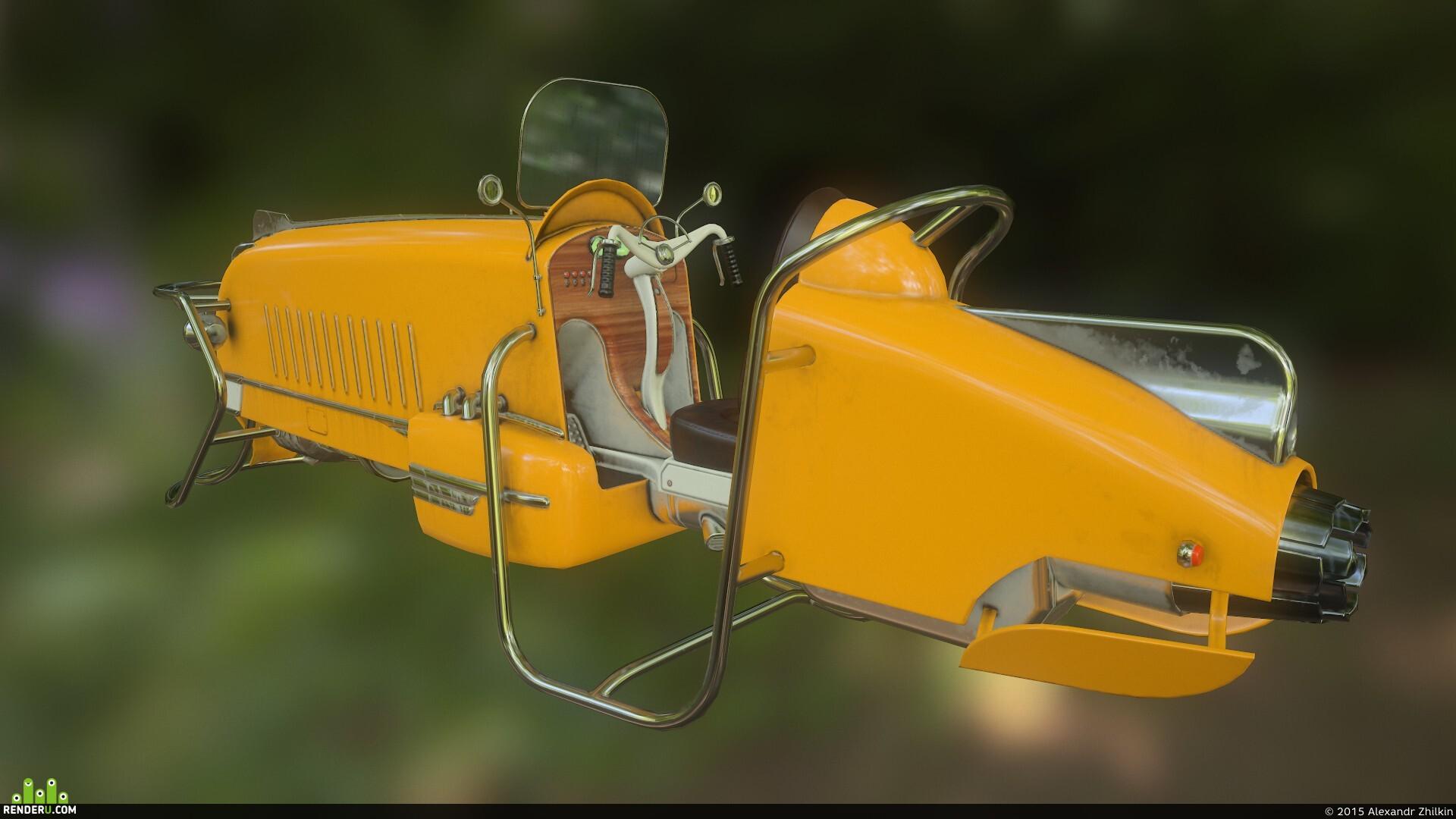 preview Dieselpunk hovercraft