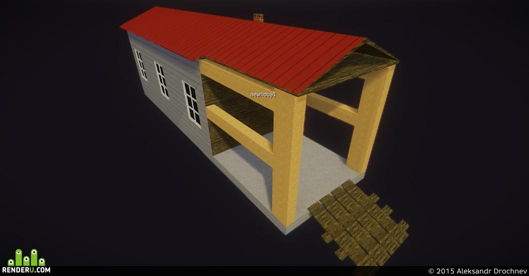 preview Дом с пристройкой(или гаражом)