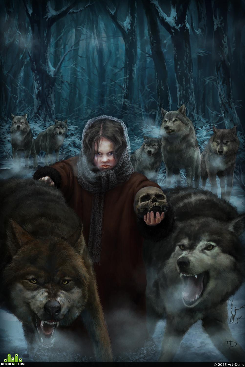 preview Девочка с волками