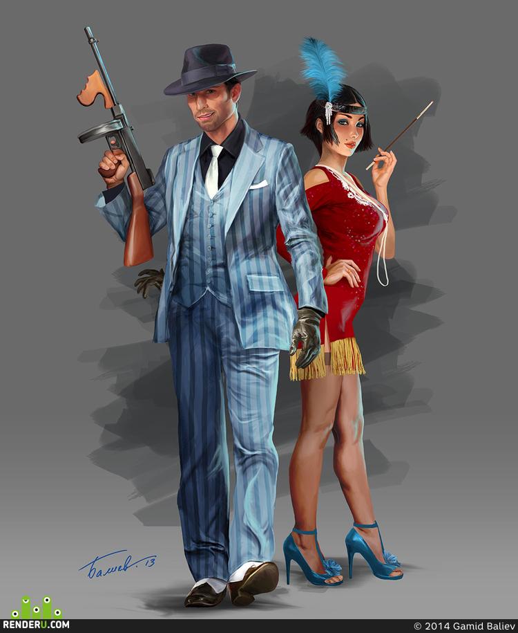 preview Концепты персонажей - гангстеры