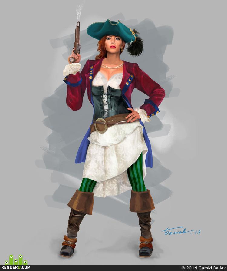 preview Концепт персонажа пирата # 2