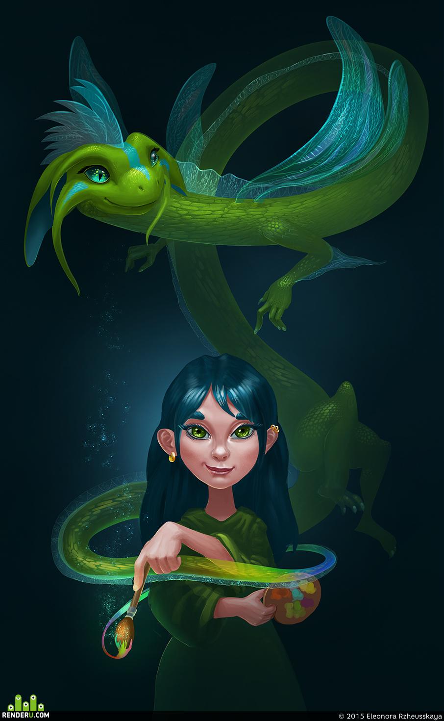 preview Девочка с драконом