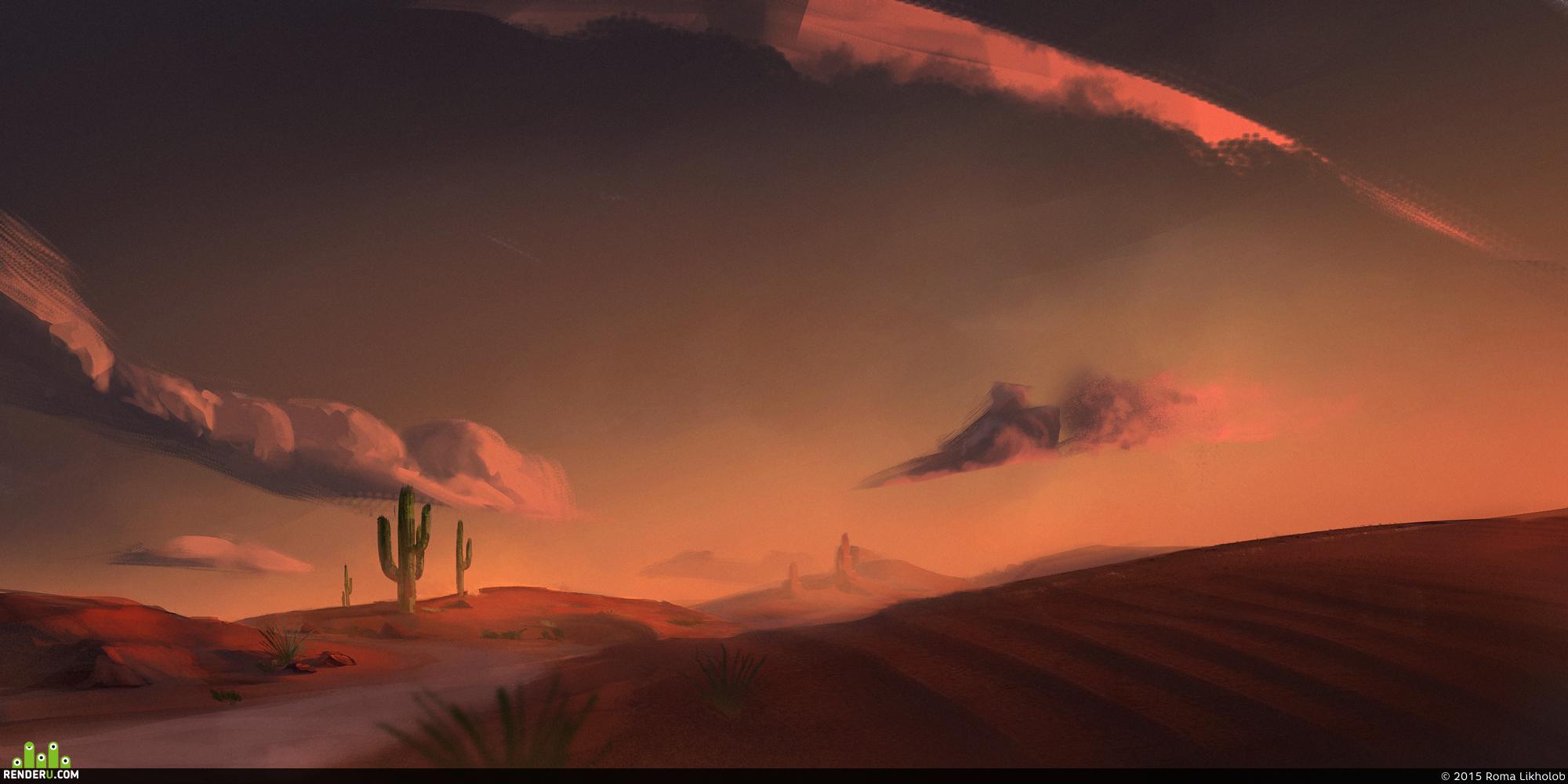 preview Кактусы в пустыне