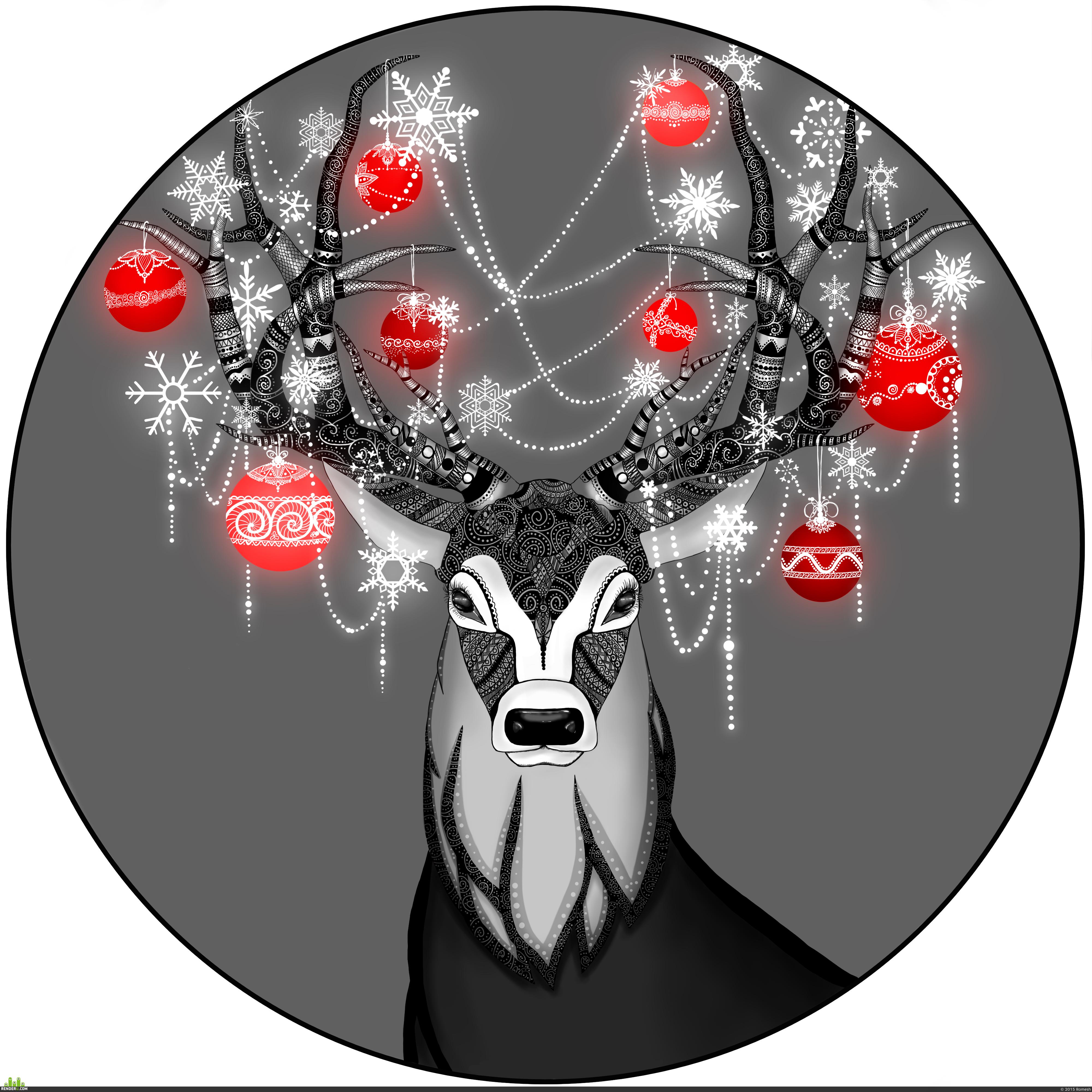 preview Рождественский олень