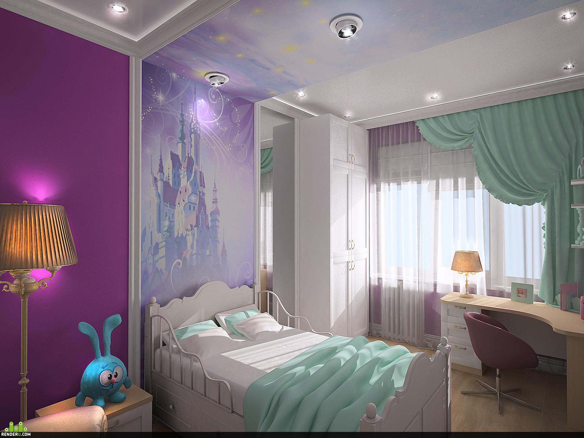 preview Визуализация интерьера детской комнаты
