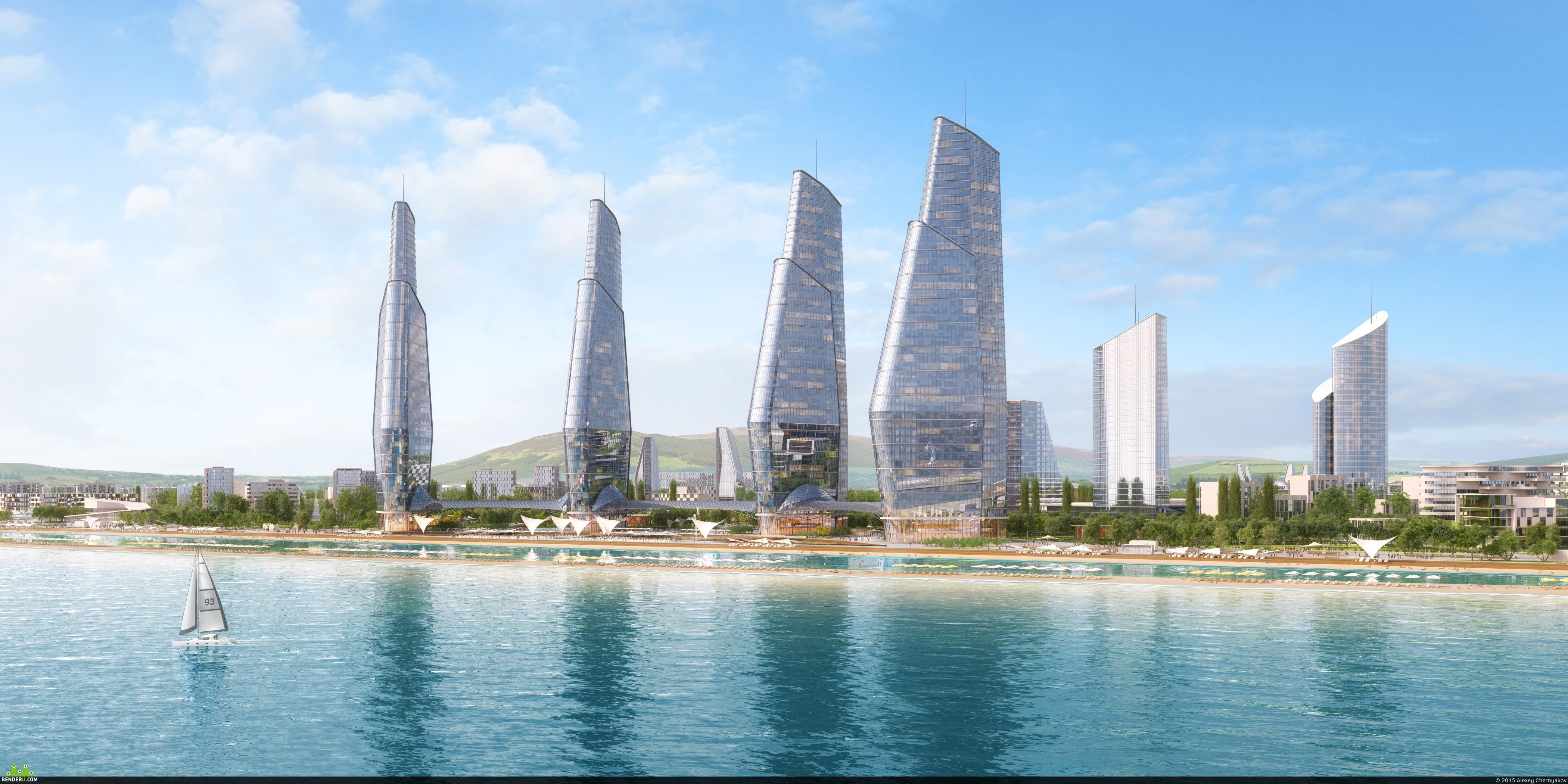 preview Город на берегу Каспийского моря