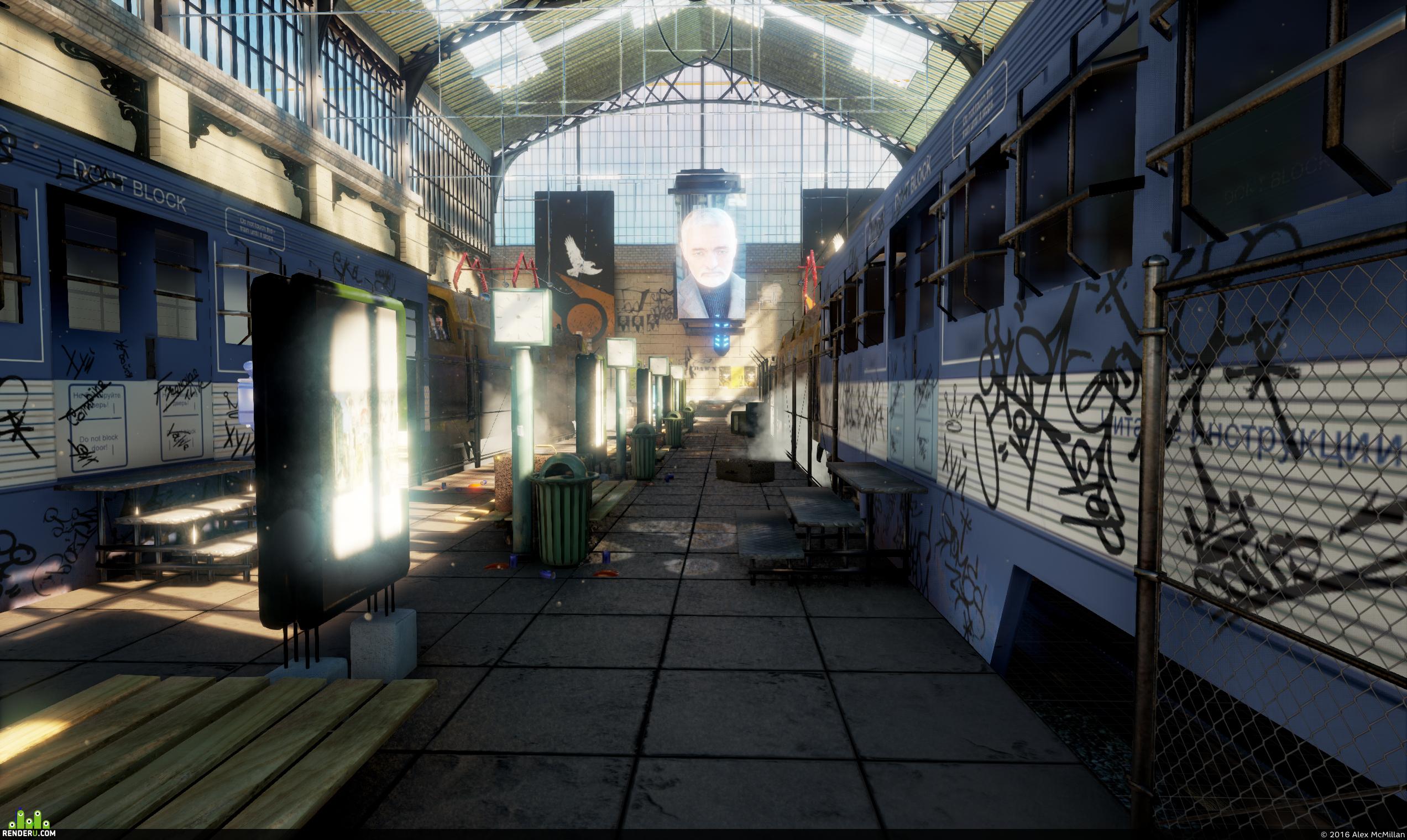 Half-Life 2 Railway Station [Unreal Engine 4]