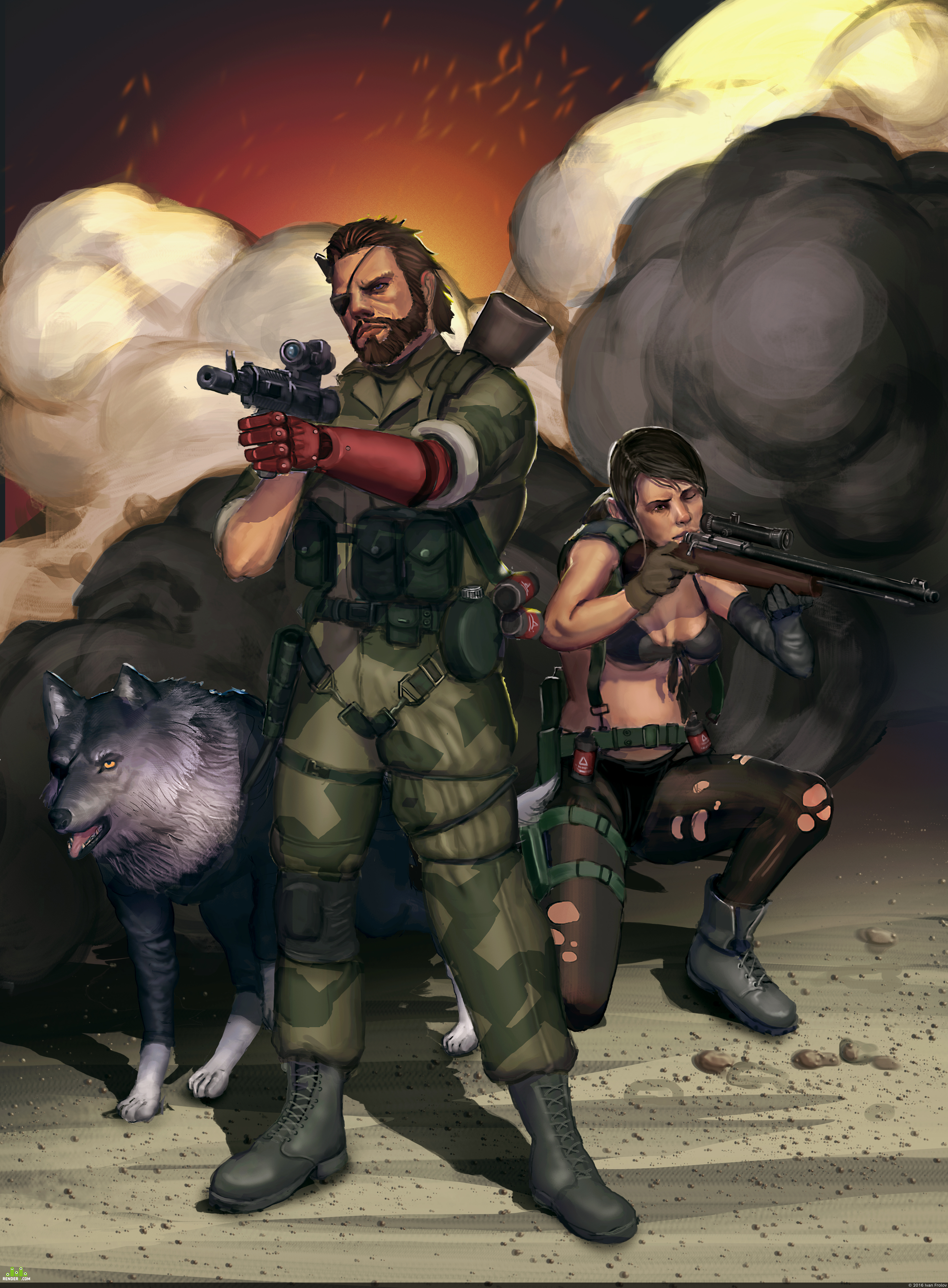 preview фан арт MGS5