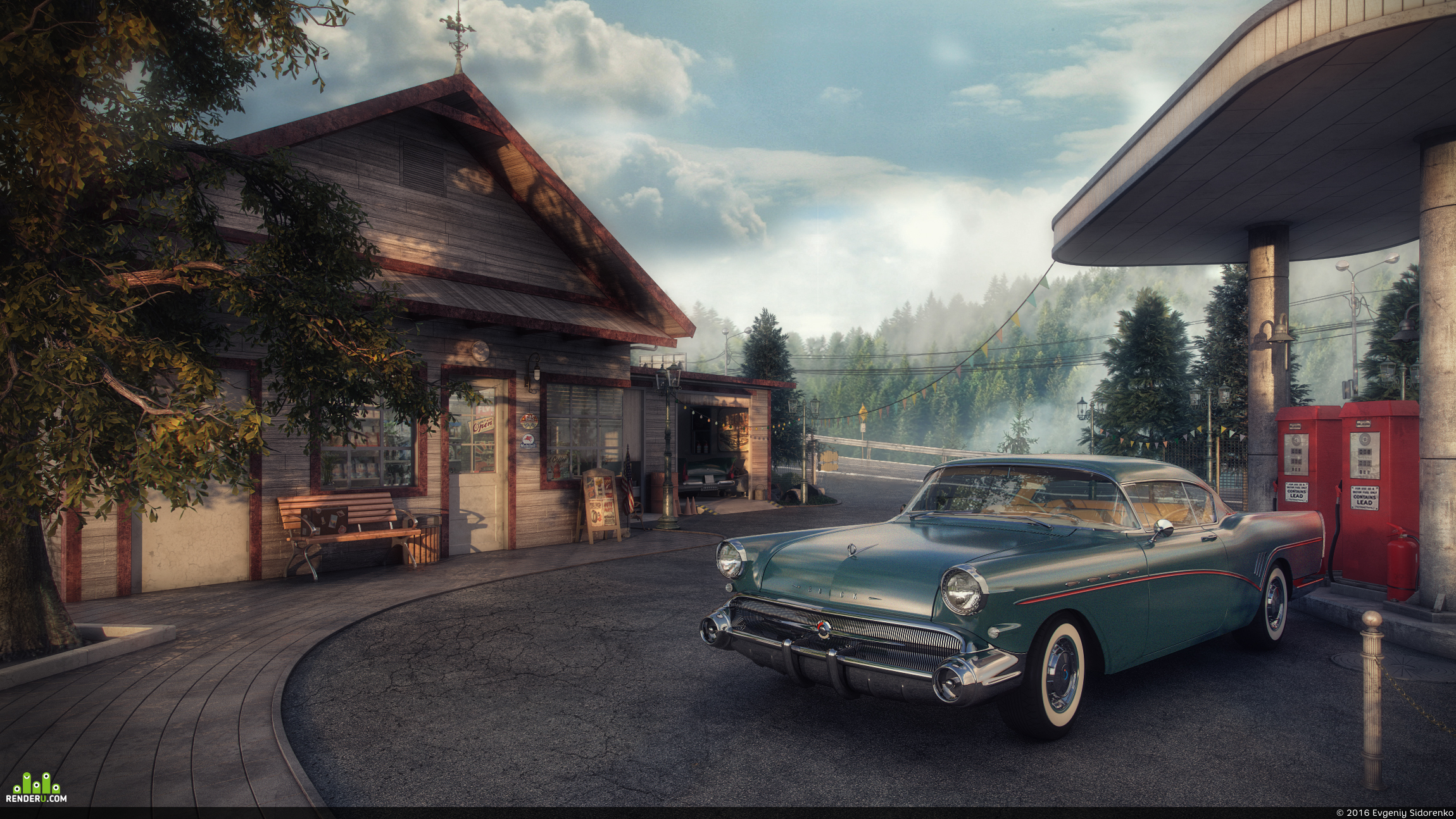 preview Vintage Gas Station