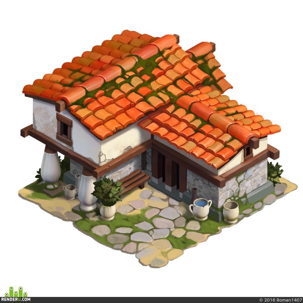 preview древнегреческий домик