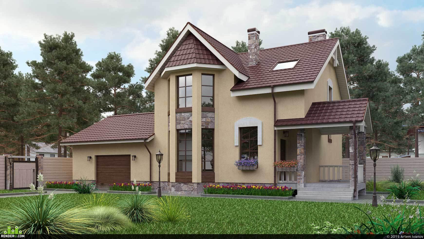 preview Визуализация загородных домов