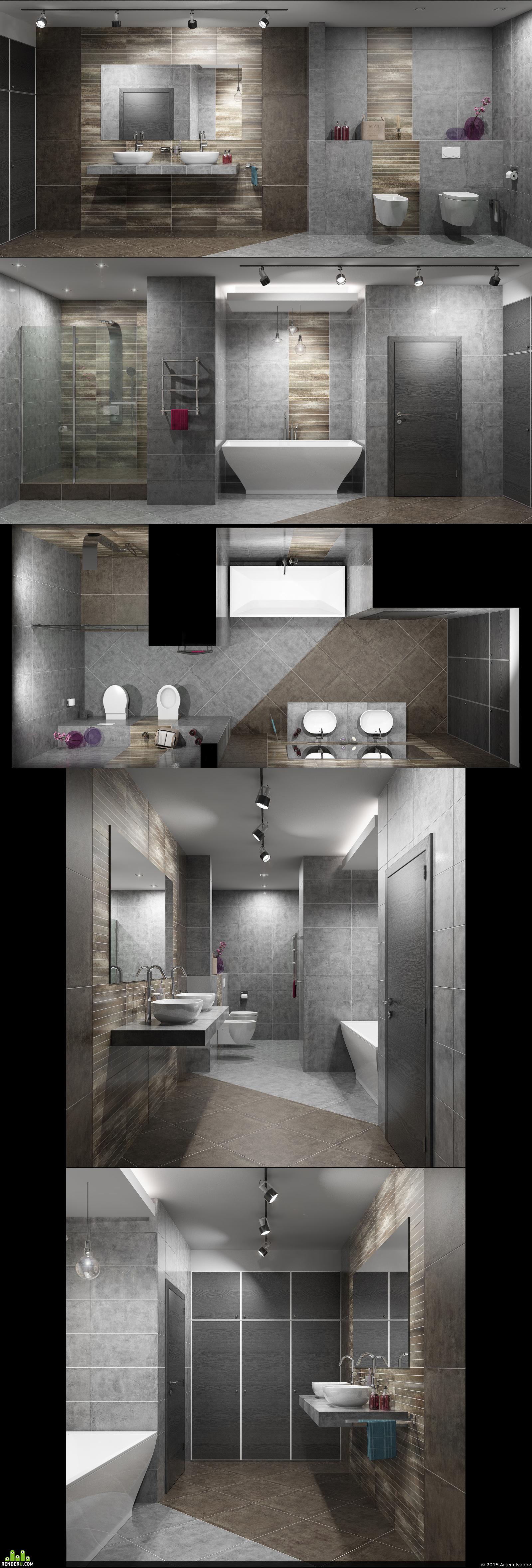 preview Дизайн интерьера ванной комнаты