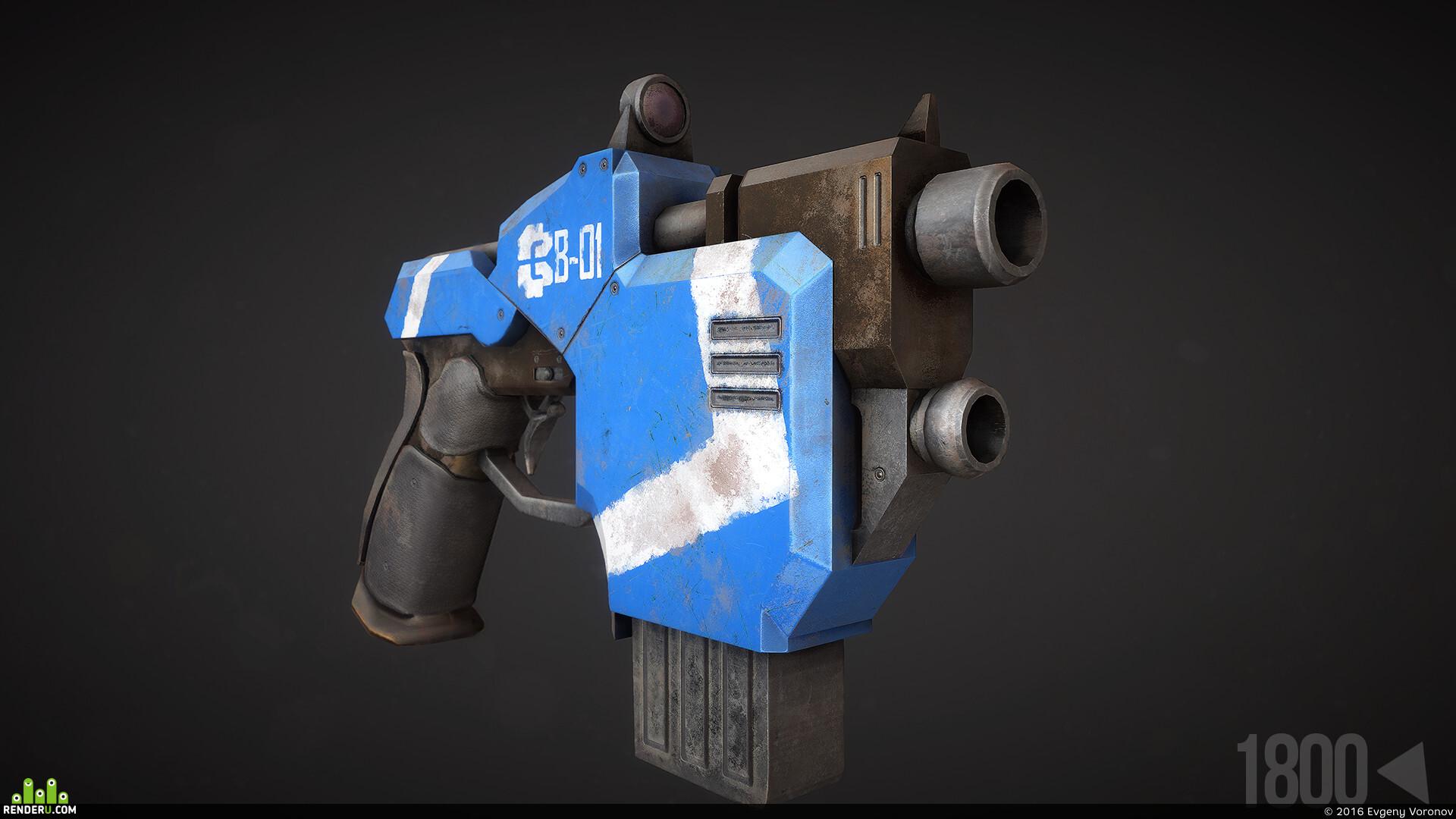 preview Sci-fi Пистолет