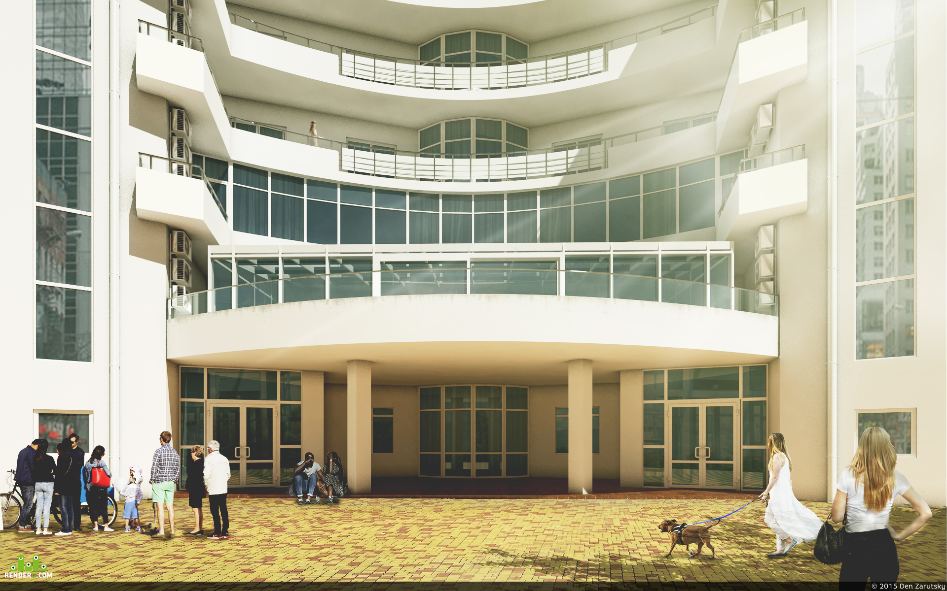 preview Визуализация фасада для оконной компании