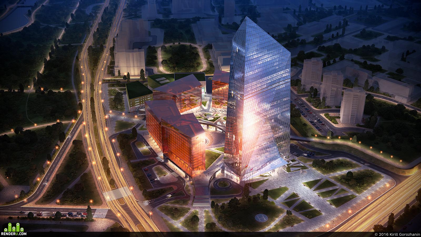 preview Многофункциональный комплекс Газпром в Минске