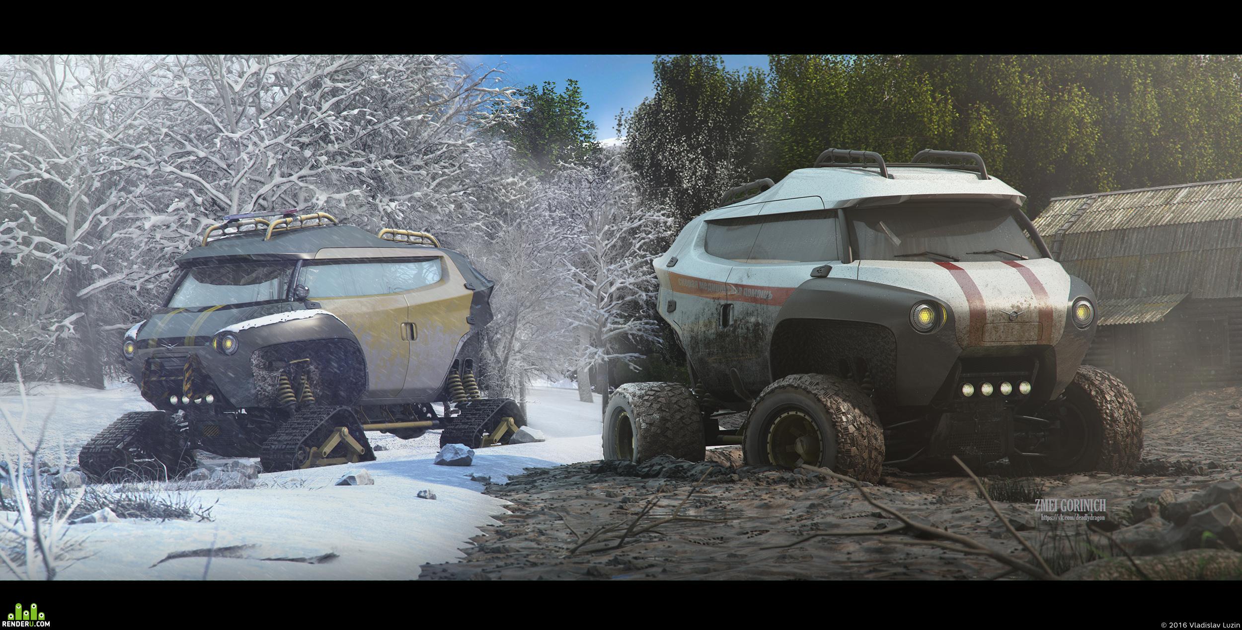 preview UAZ Buhanka concept (бешеный луноход)