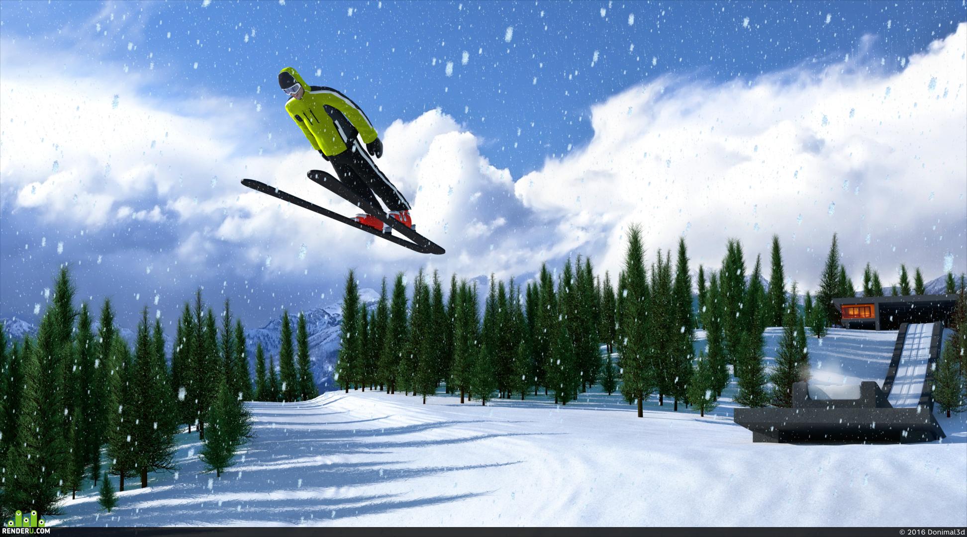 preview Лыжник