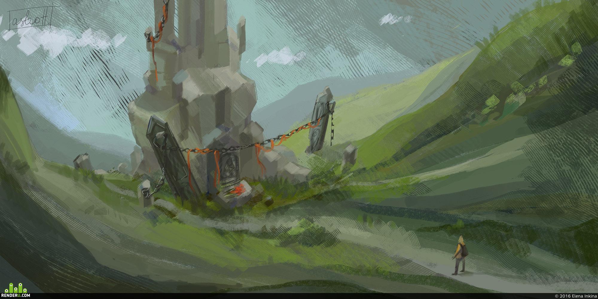 preview Landscape. Temple