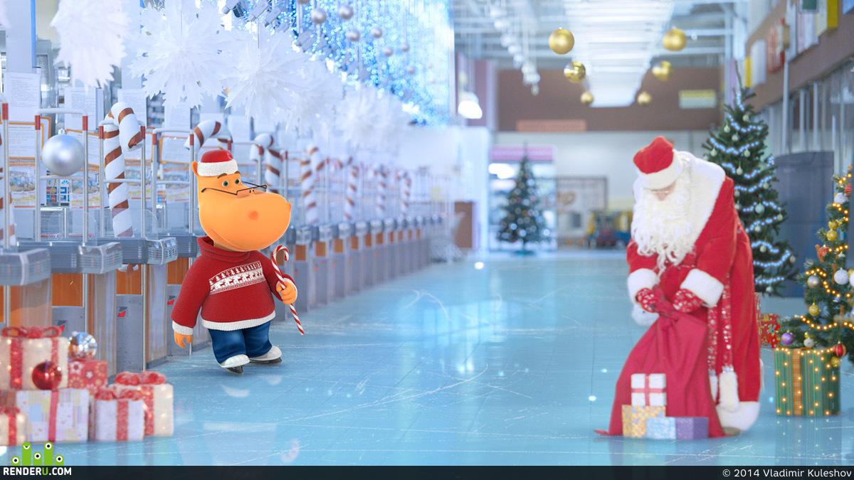 preview Мейкингофф новогодней рекламы сети гипермаркетов.