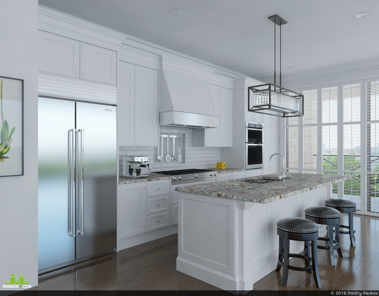 preview Кухня с панорамным окном