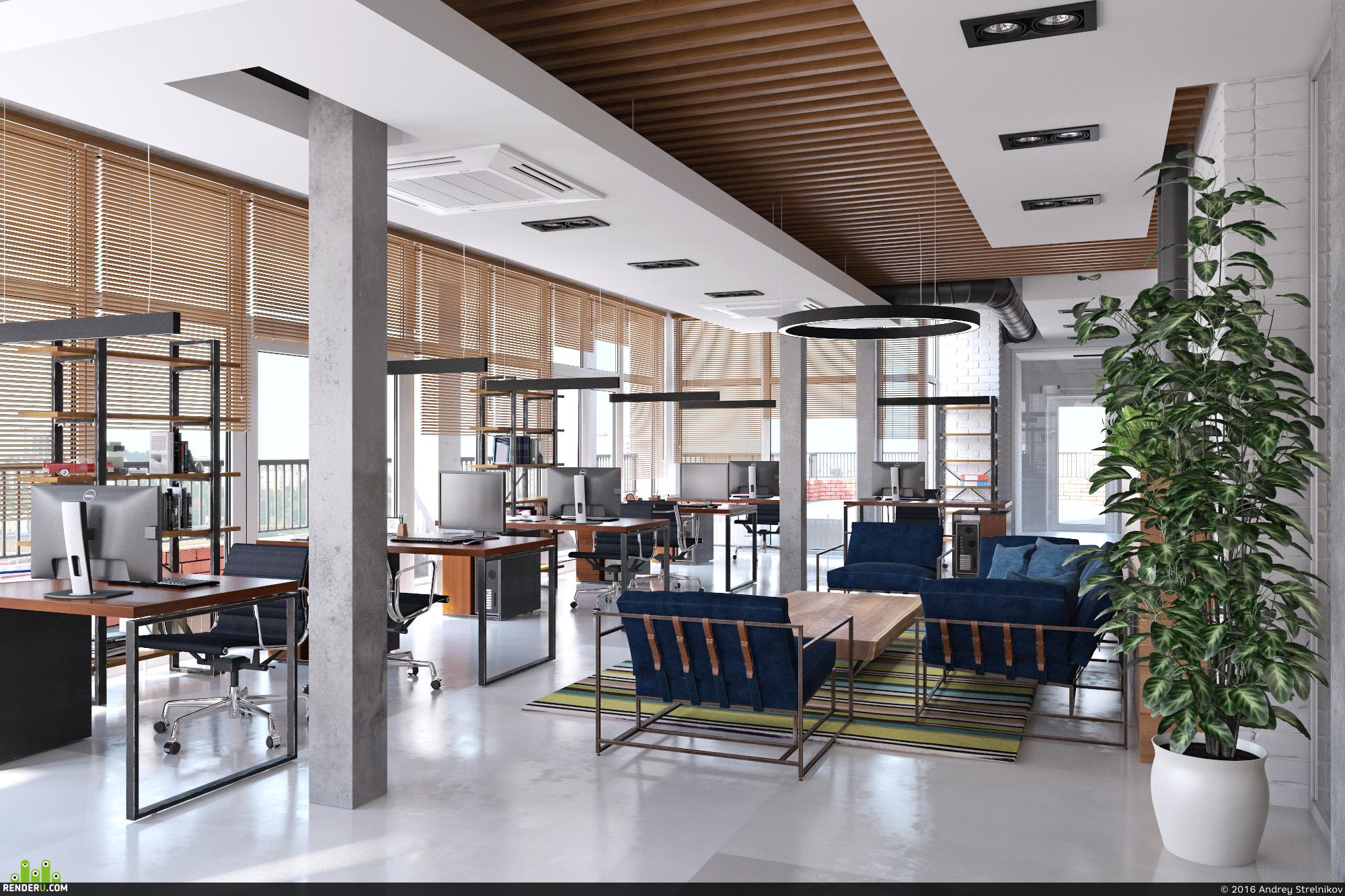 preview Офис в стиле лофт с этническими мотивами