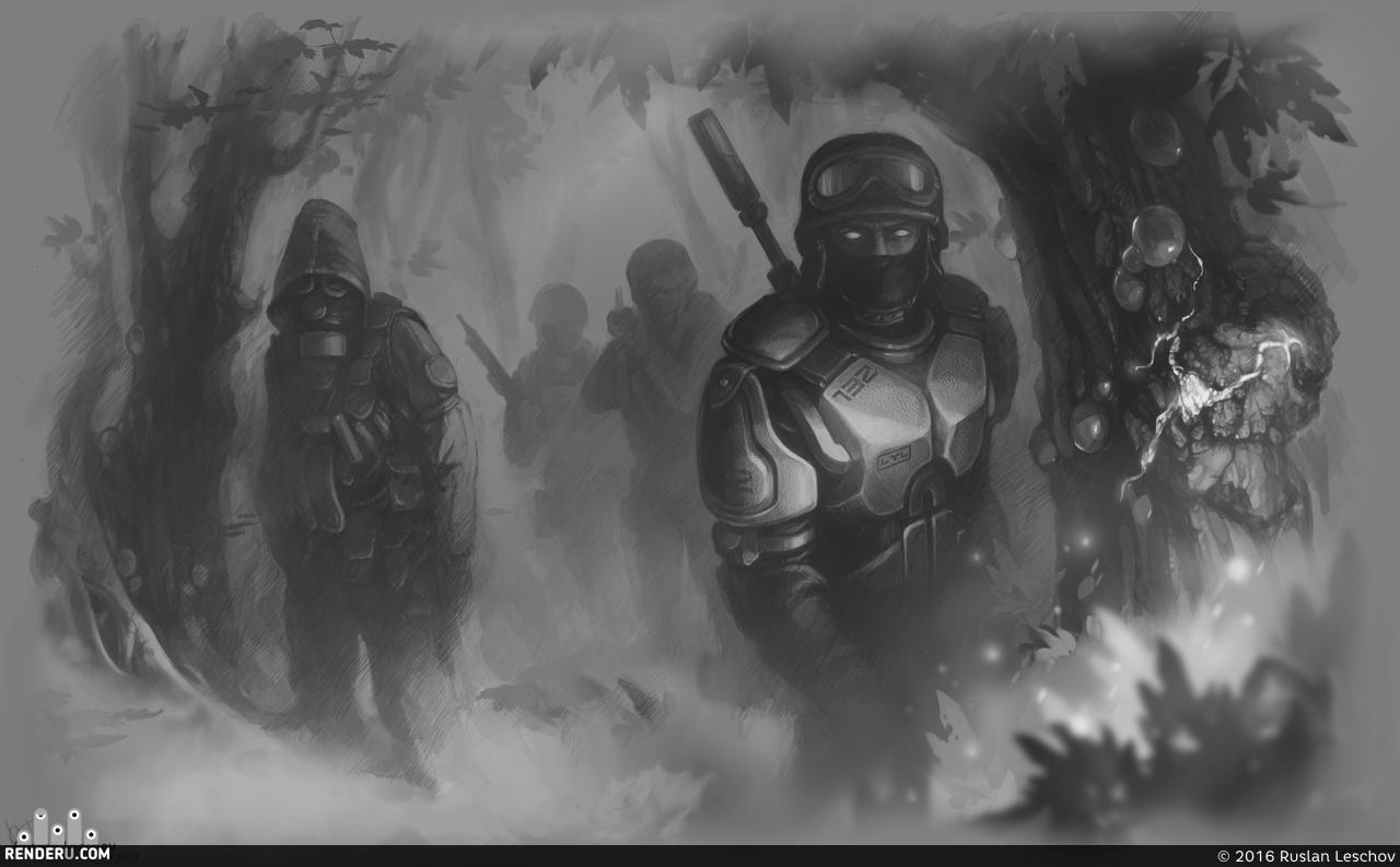 preview Зомби-солдаты. Тестовый концепт.