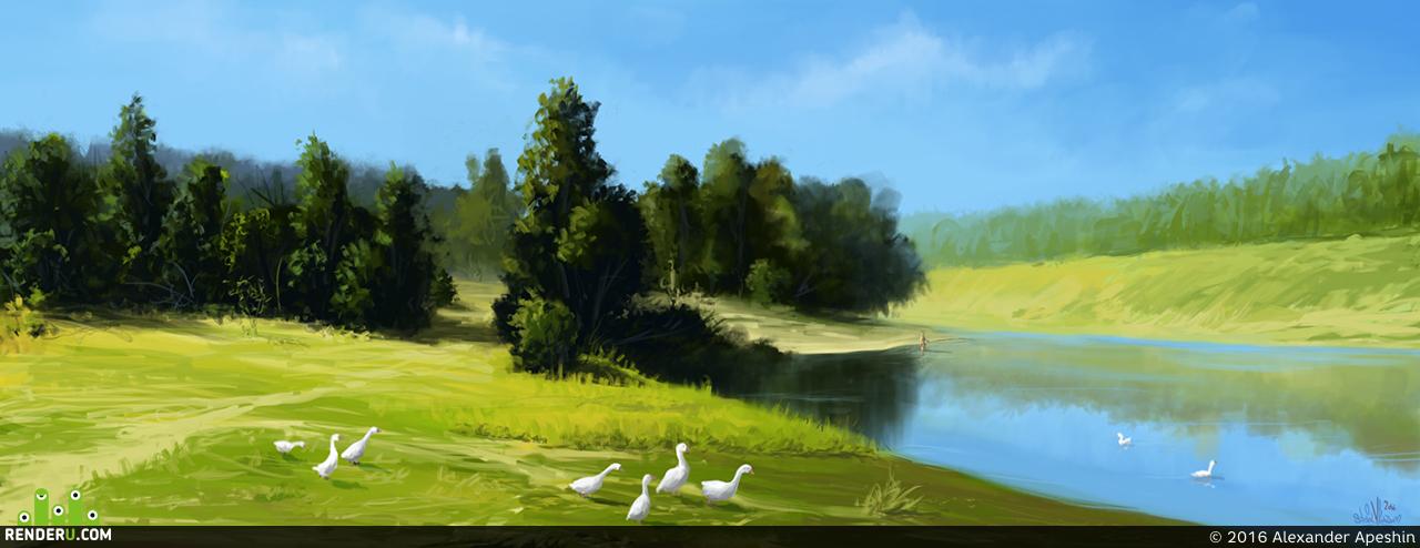 preview Утренний пейзаж