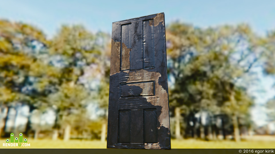 preview дверь низкополигональная игровая для игры