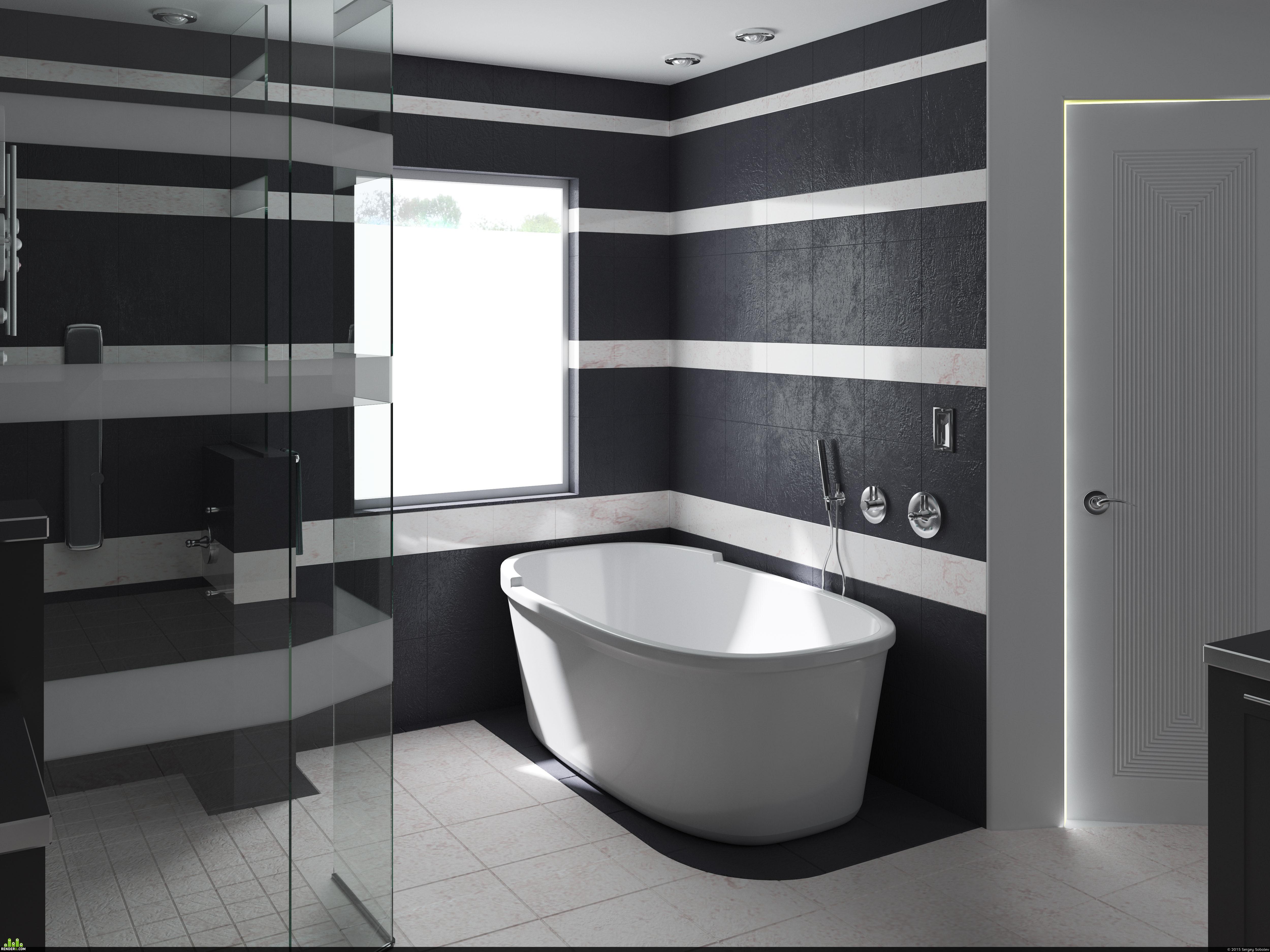 preview black bathroom