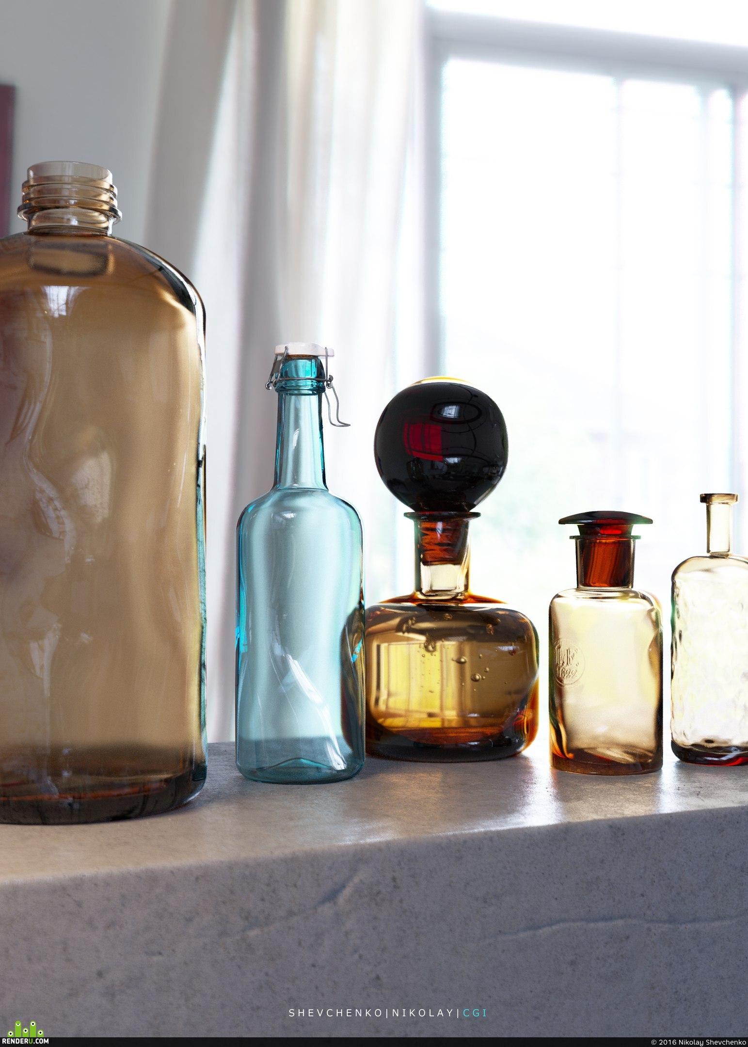 preview Цветные бутылки