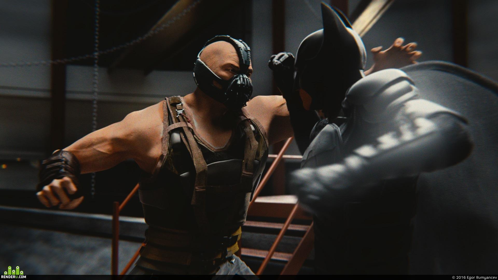 preview Bane vs Batman