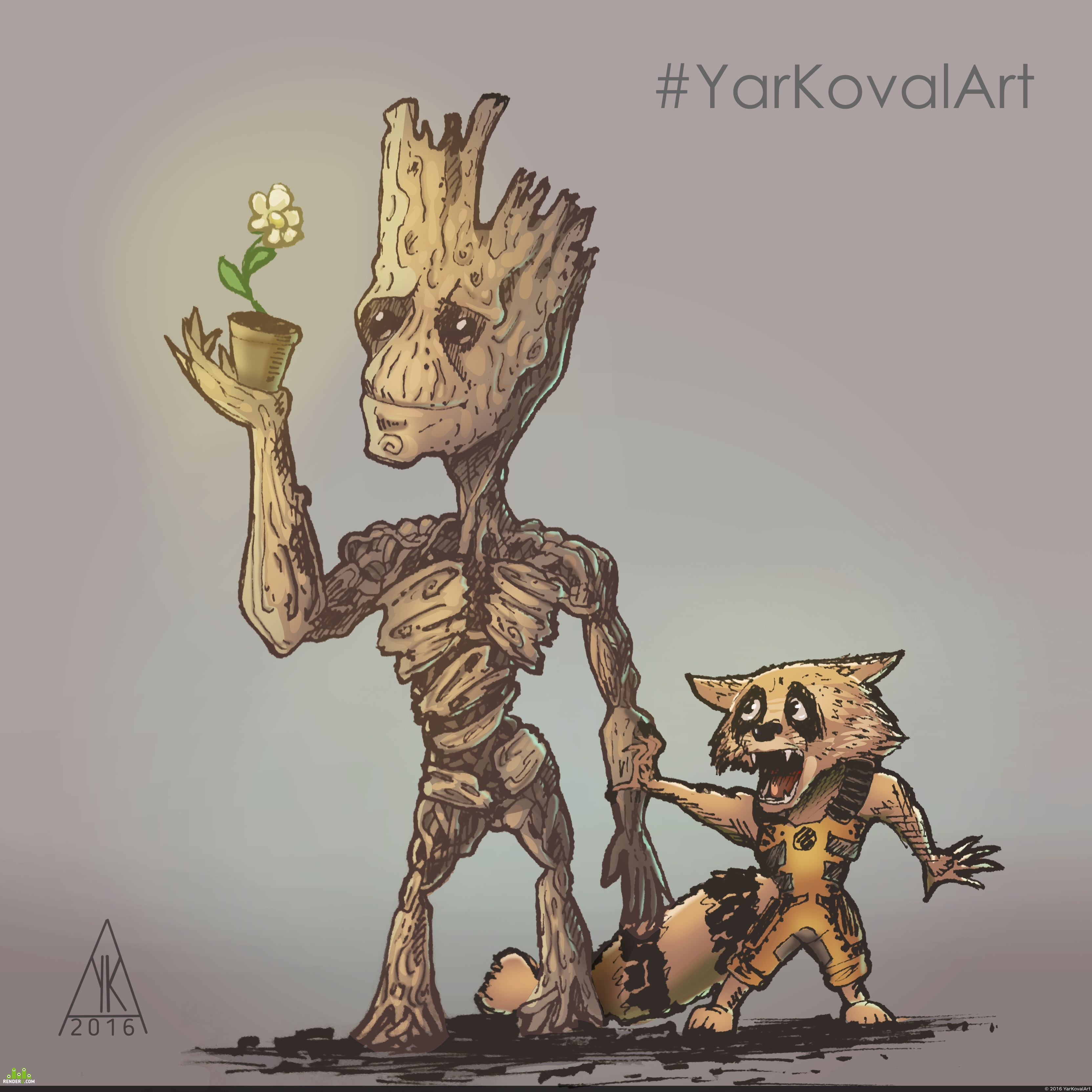 preview Groot and Rocket