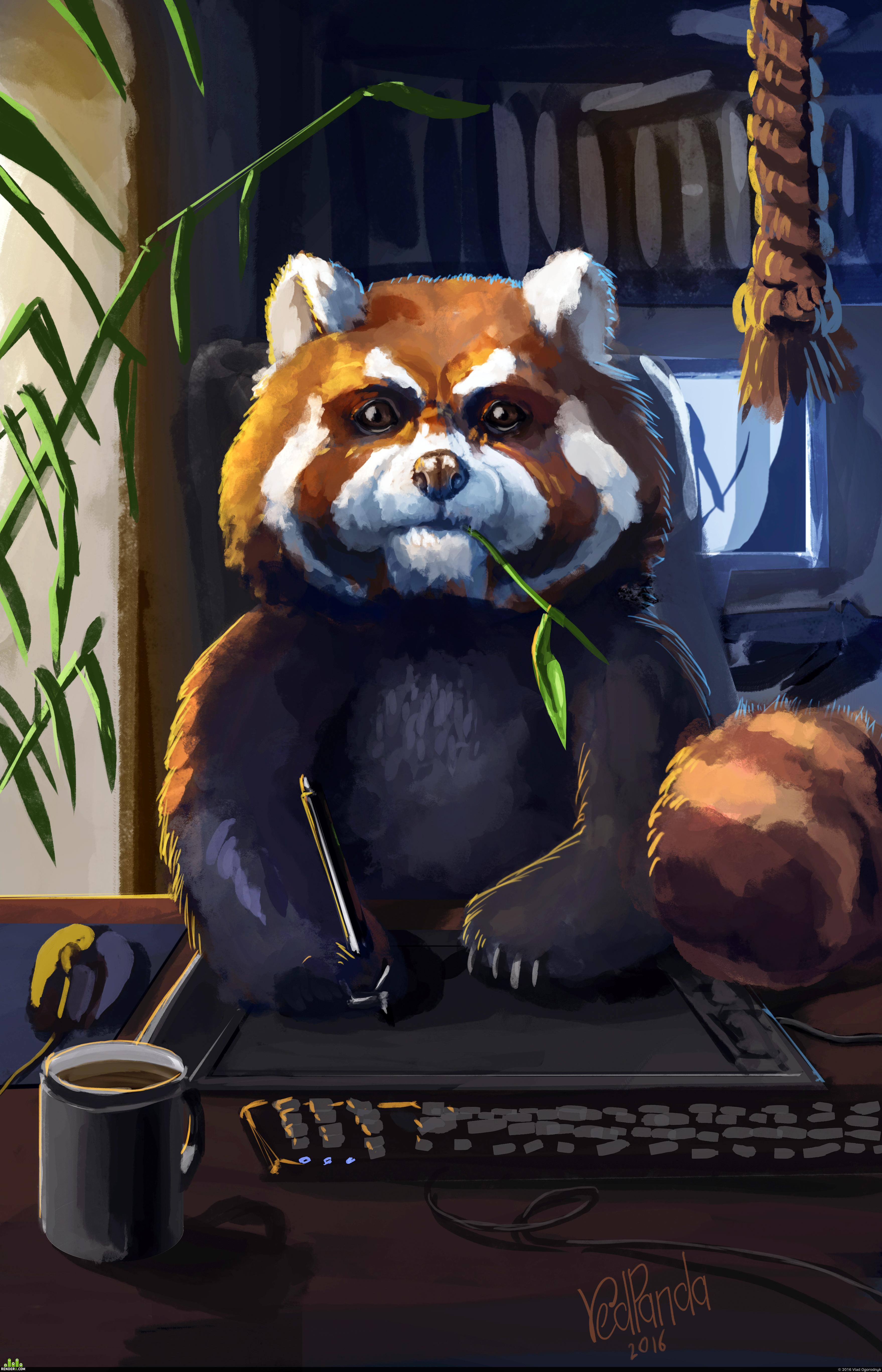 preview Красная панда (автопортрет)