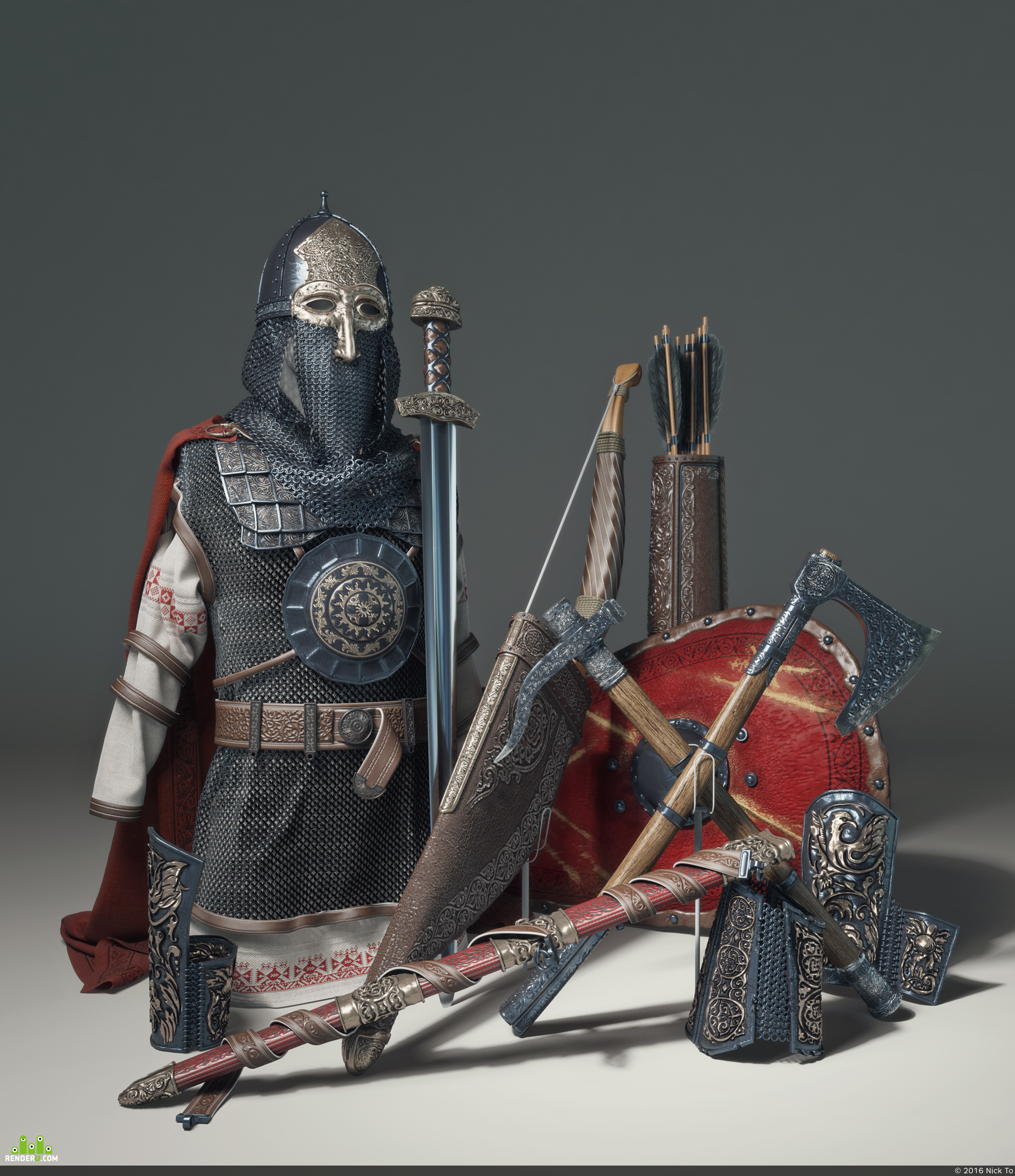 preview Оружие и доспехи знатного воина 12-го века.