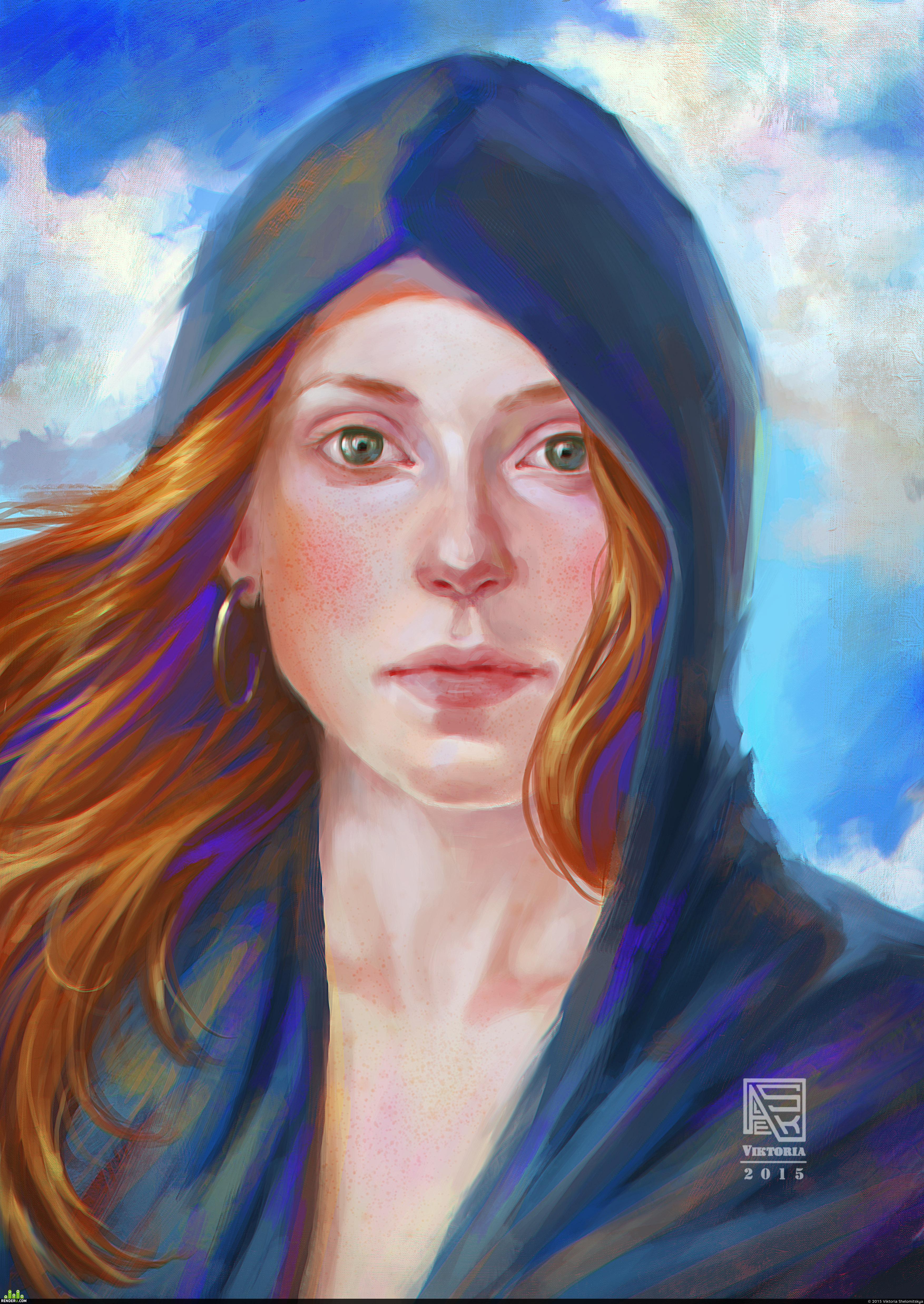 preview Портрет рыжей