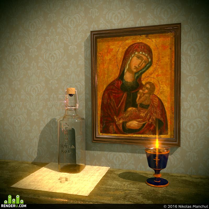 preview Икона, Лампада, Антидор, тара для Святой Воды