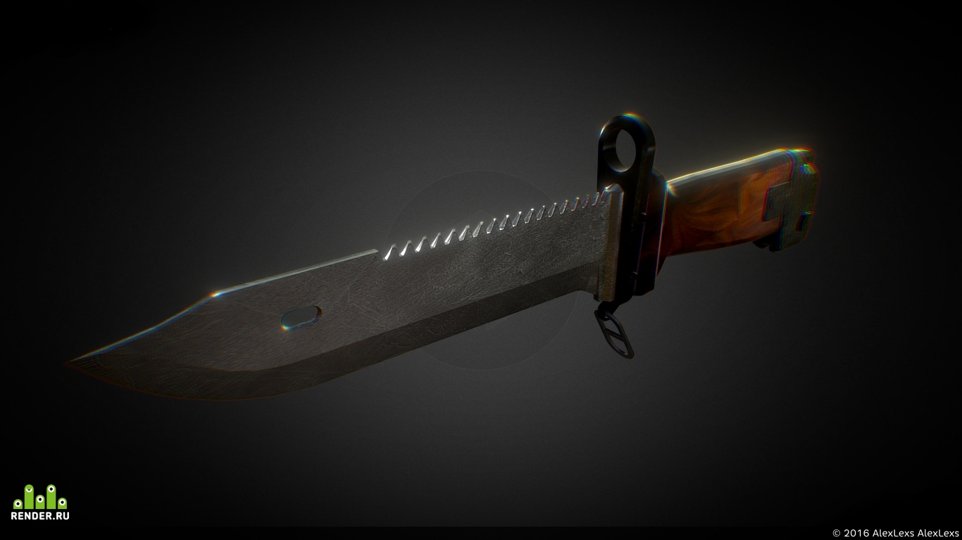 preview Штык нож для АК-47