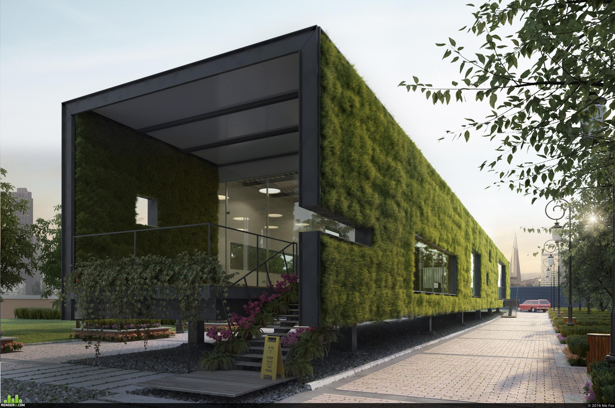 preview Визуализация существующего проекта CR Land Guanganmen Green Technology Showroom