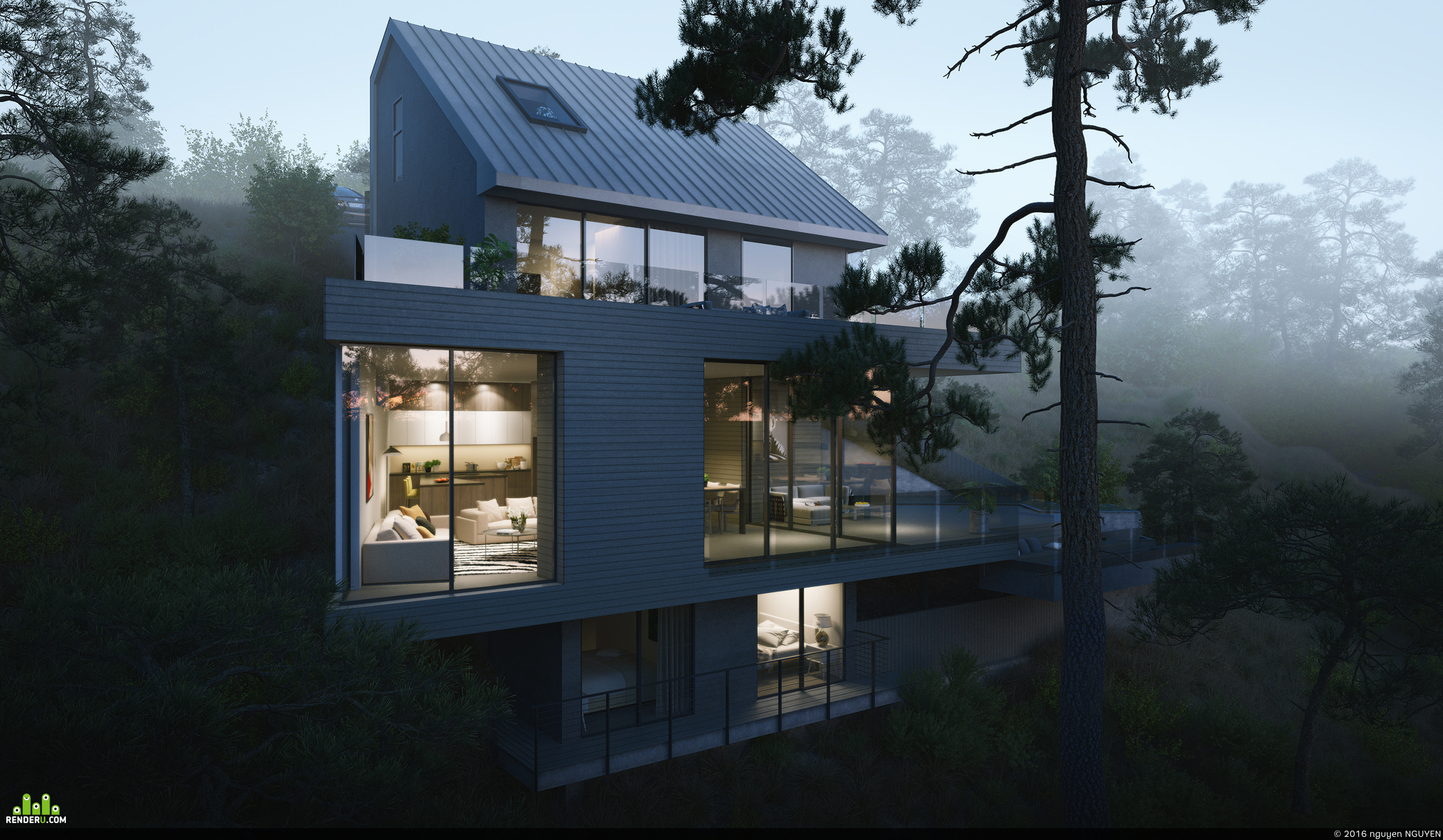 preview Granito Villa, hollywood hills.