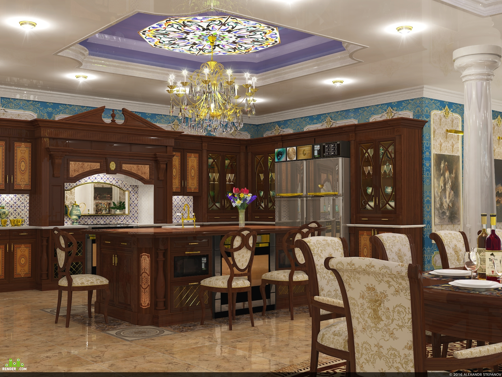preview Кухня традиционного американского дома