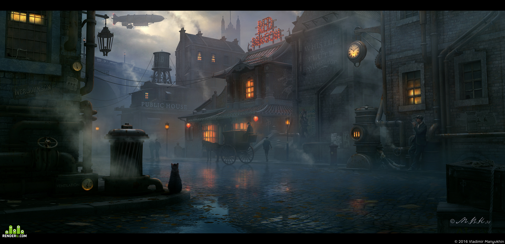 preview Steampunk town, Red Dragon