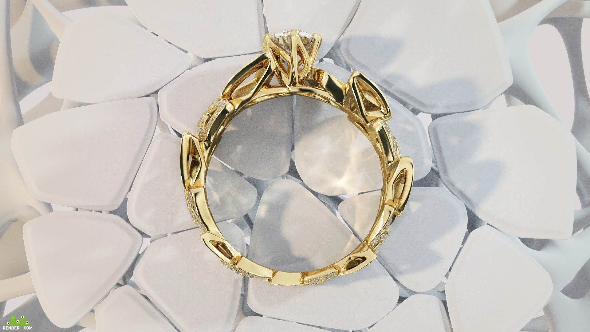 preview Modern rings visualisation with unique background