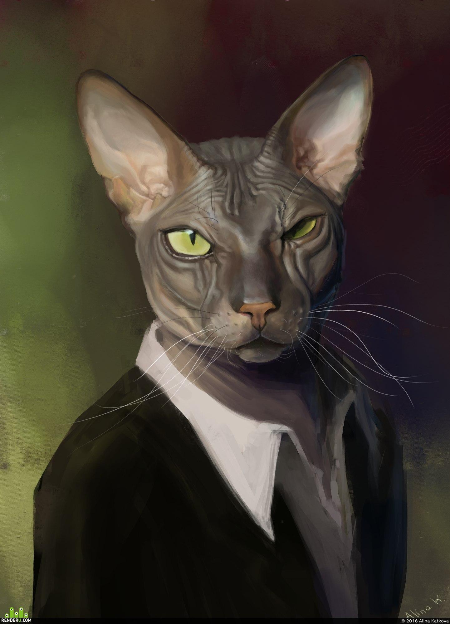 preview Портрет моего кота