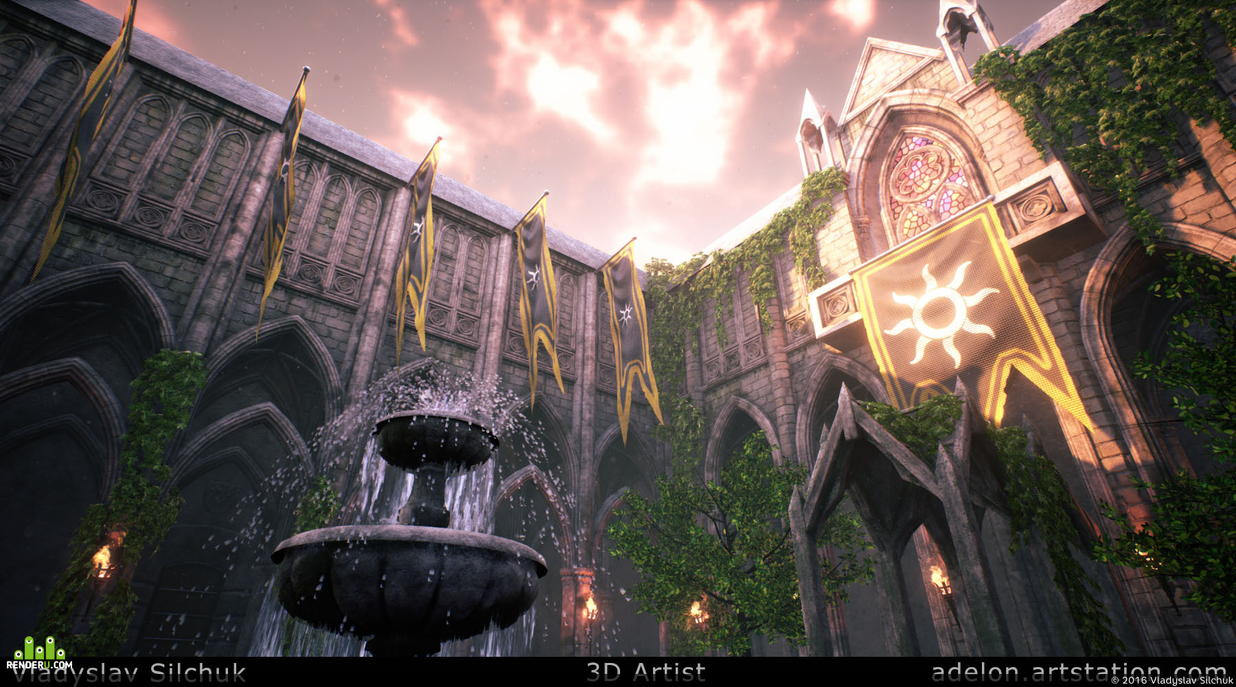 UE4] Medieval Courtyard - The Witcher 3 Fan Art