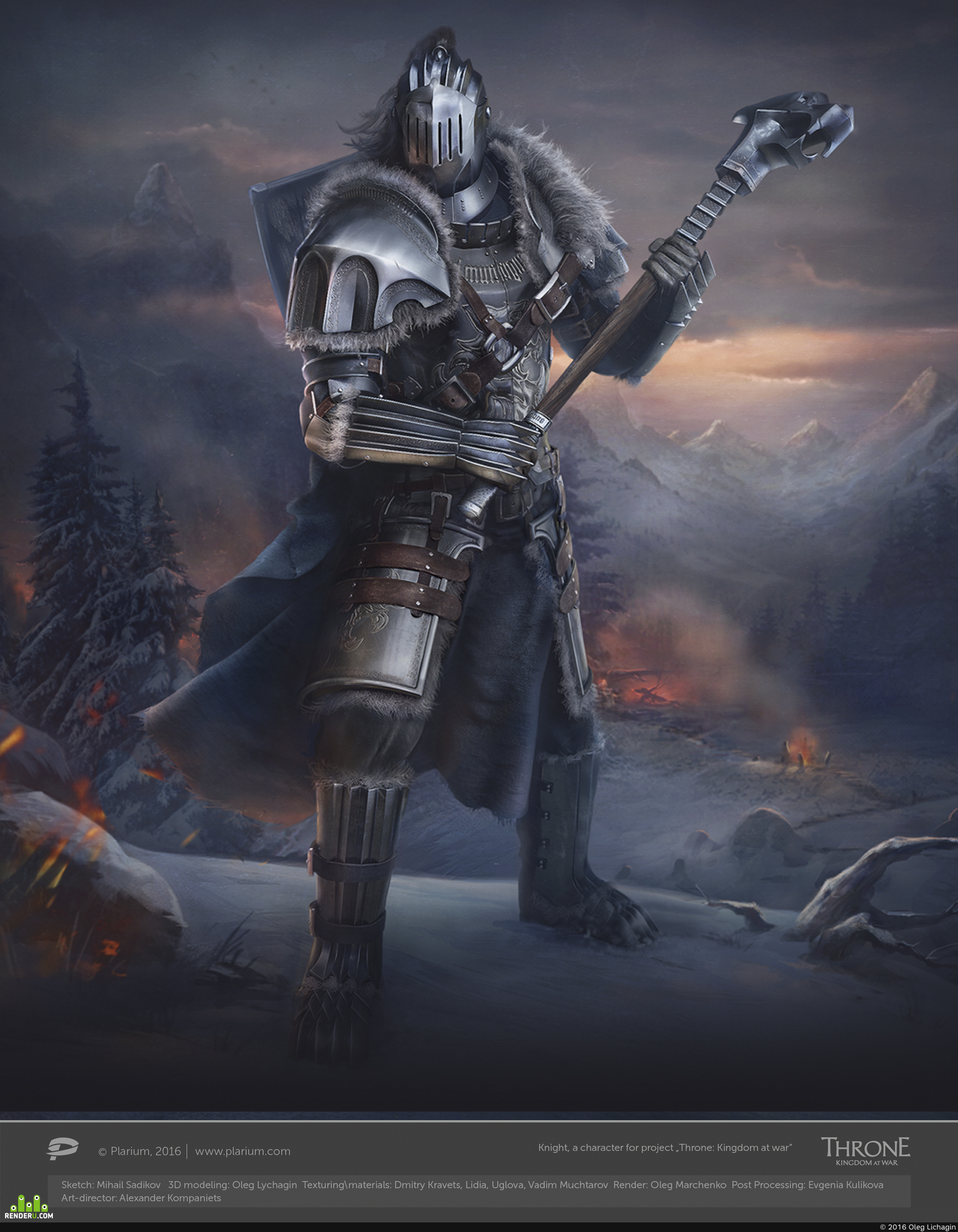 """preview Knight, a character for project """"Throne: Kingdom at war"""""""