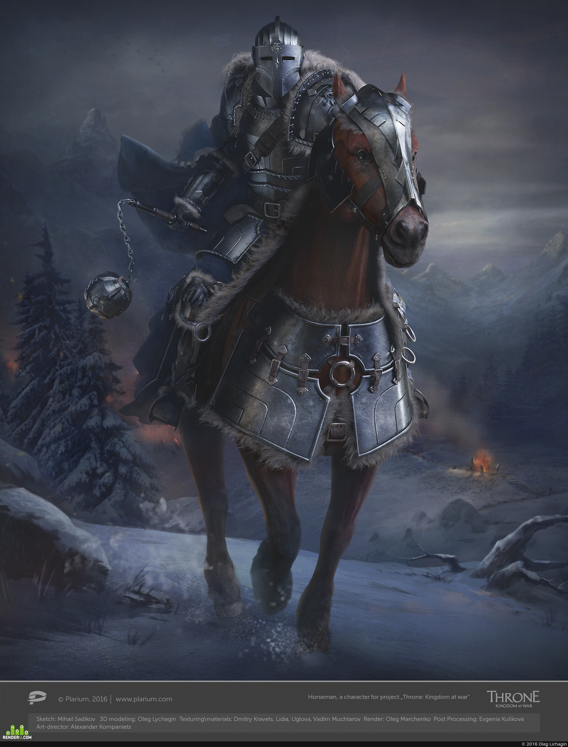 """preview Horseman, a character for project """"Throne: Kingdom at war"""""""