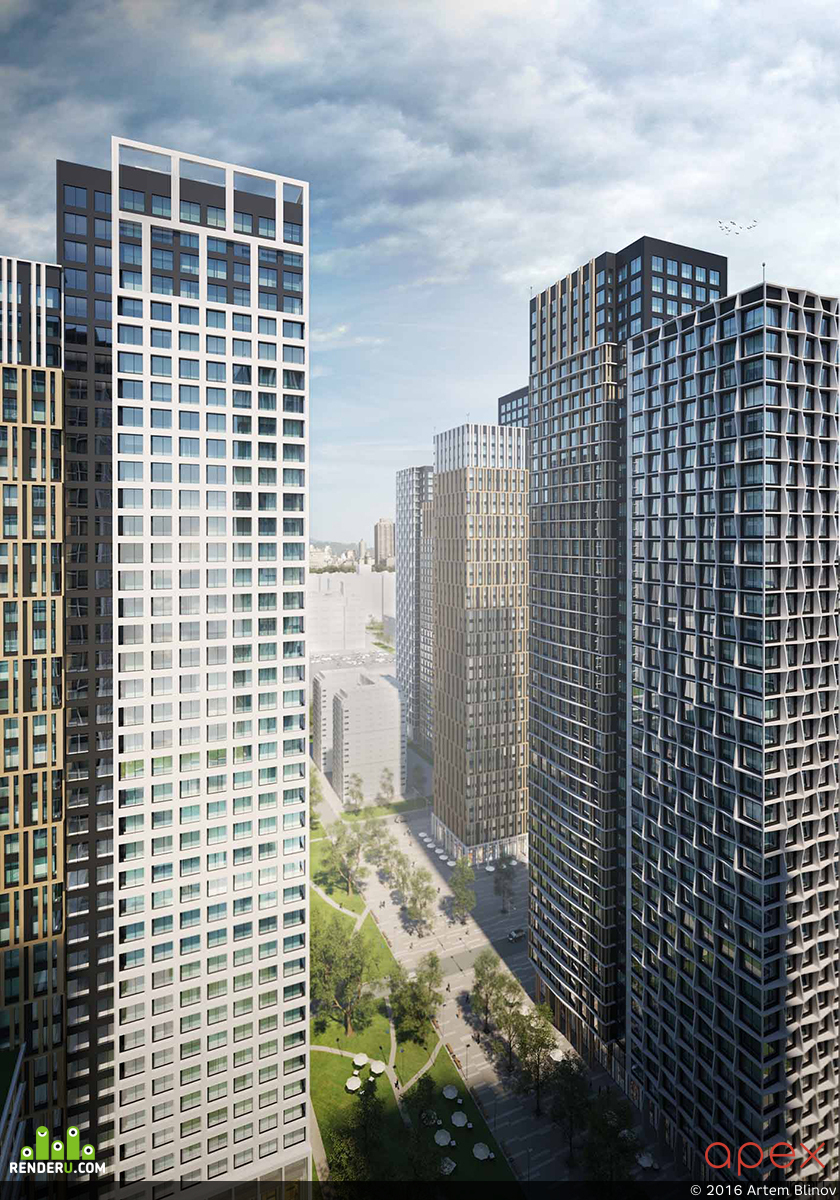 preview Концепция многофункционального жилого комплекса.